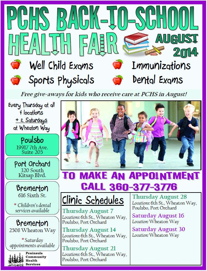 PCHS Back To School Flyer