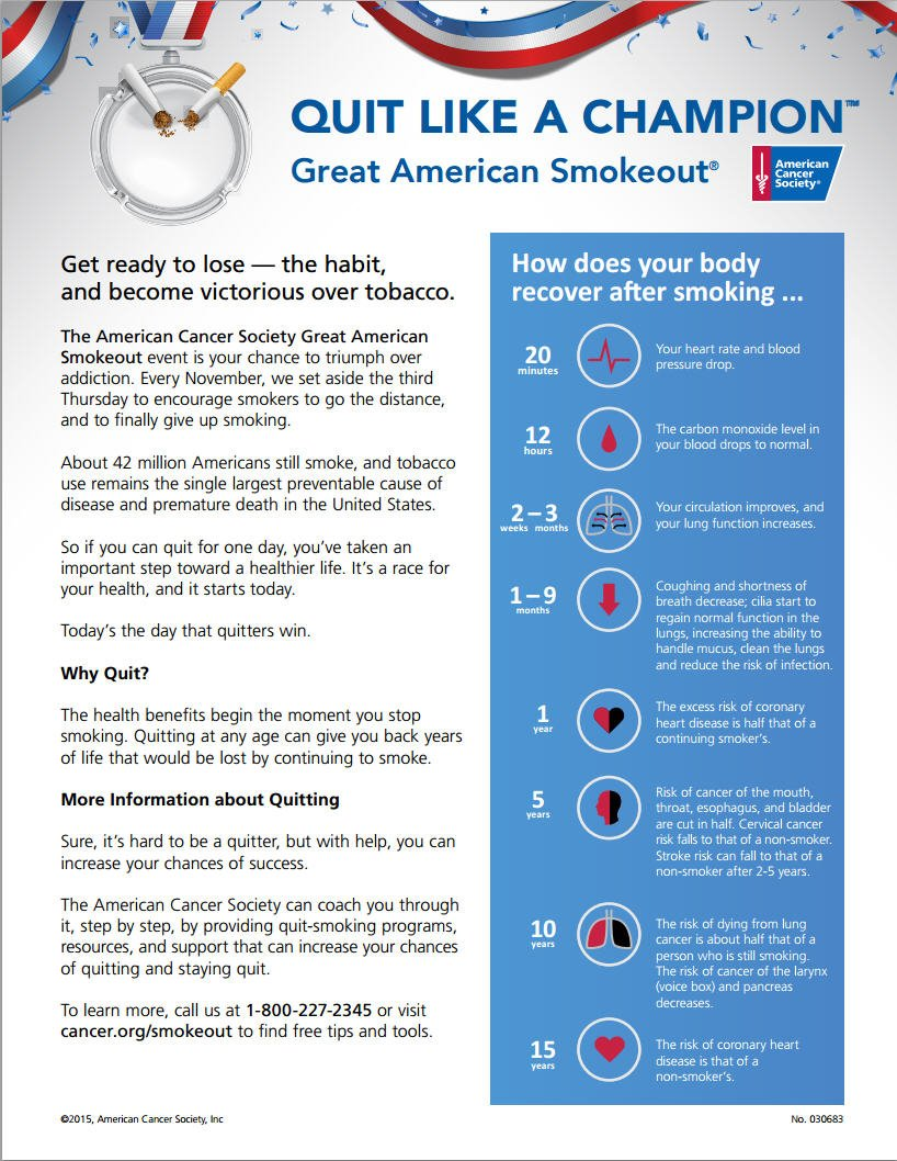 ACS Great American Smoke Out 2015